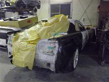 ER34スカイライン!GT-Rのリアフェンダーをドッキング!!