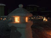 子どもたちの雪灯ろう