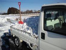 雪かき・・・(・_・;)