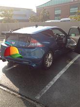 朝から洗車~。