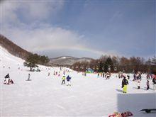 ゲレンデに虹