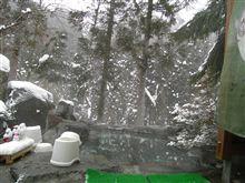 雪の降る露天風呂は最高~♪