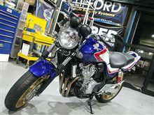 バイクセキュリティ「Merlin3000」で安心を・・~HONDA CB400SF編