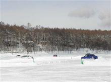 女神湖氷上