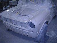 アウトビアンキ A112 レストア 板金塗装 愛知県豊田市 倉地塗装 KRC
