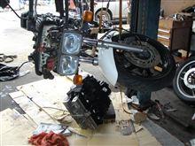 CBX750F エンジン積み替え