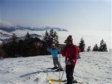 スキーに来てます
