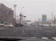 3月の最後も雪でした。 (^^;)