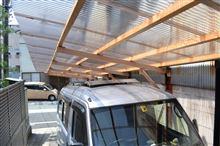 ソーラーパネル、無事車庫に収まりました