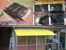 GW 1日目 温室の屋根の修理