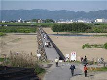 流れ橋開通〜♬