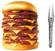 ロッテリア『Q段バーガーを食べる』