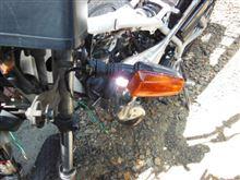 DT50 外装磨きとウインカー取り付け