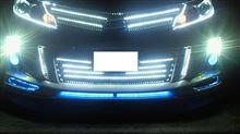 今日の 車 弄り ライト周りの LED WHITE テープ 追加して 仕込みました