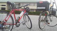 次男と自転車に乗る