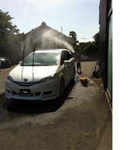 仲良く洗車中!??