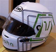 【レーシングギア】ヘルメット用カッティングシート検討