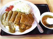 フォークで食べるカツカレー(´∀`*)
