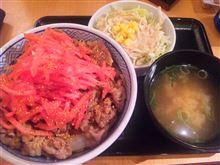 夏はさっぱり紅生姜丼?(>3<)ぷっ