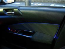 [エクシーガtS] 光るパイピング・バイアステープ(アクリル棒+LED内蔵)
