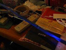 [エクシーガtS] その3.アクリル三角棒の光り方(光るバイアステープ・実験君)