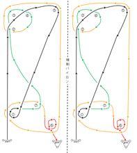 バトルジムカーナ2013 Rd.2コース図