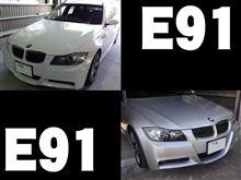BMW 3シリーズ(E91)にLED交換