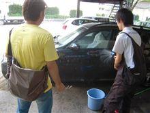 ガラスコーティング後の洗車教室