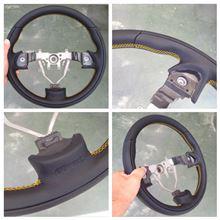 Reiz Sports Steering 355(イエローステッチ)