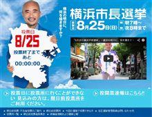 横浜市長選挙・過去最低の投票率