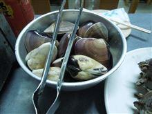 焼き蛤で接待