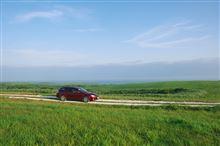 北海道 8月6日 宗谷丘陵 白い貝殻の道
