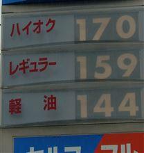 ガソリン値上がり!