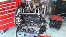 真夏のエンジン修理.完成