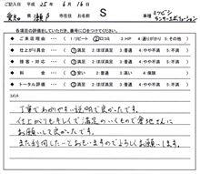 お客様の声をいただきました。 ランサー ドレスアップ 愛知県豊田市 倉地塗装 KRC