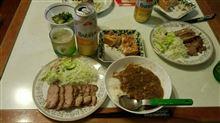 焼豚+厚揚げ+カレーライス