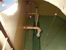 上水・雑用水槽の清掃・・・