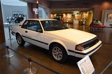 トヨタ博物館のロビーにセリカ1600GT-Rが展示中