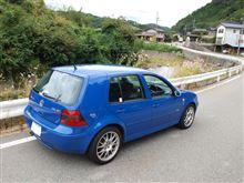 諏訪の神社と青GTI