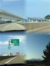 金沢からの北陸道の景色