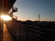 病室からの朝日