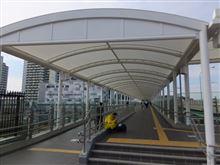 新川崎駅、鹿島田こ線歩道橋完成