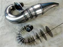 覚え書き : チャンバーの作り方 (2サイクル エンジン用の排気管)