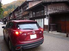 CX-5で奈良井宿を快走。