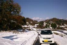 紅葉と雪景色ドライブ