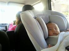 ドライブ中。