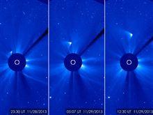 アイソン彗星、核の一部は残った? NASAが太陽から離れる画像公開