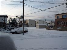 初・積雪の朝