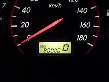 ついに ODO 80,000 km