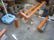 庭の花壇を作ります。